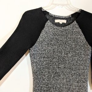 LOFT Dresses - GUC LOFT BLACK AND GREY SWEATER DRESS SIZE SMALL